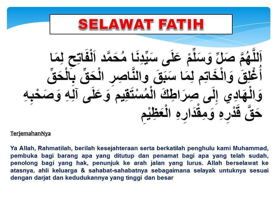 Selawat Fatih (Pembuka)